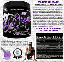Chick Pump™ Pre Workout for Women - Grape-A-Licious - 30 Servings - ChickPump