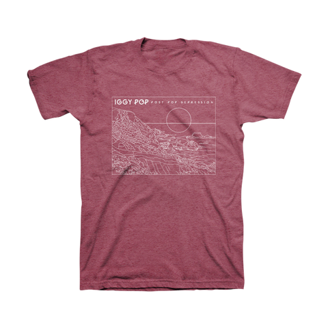 Shoreline Unisex Tee (Heather Burgundy) - Post Pop Depression