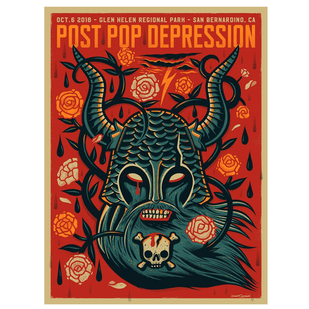 Cal Jam Event Poster - Post Pop Depression