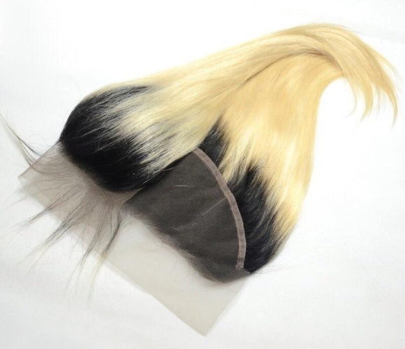 Dark Root Platinum Blonde Frontal