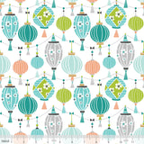 Sky Lantern Blue Panda-Rama Cotton Fabric