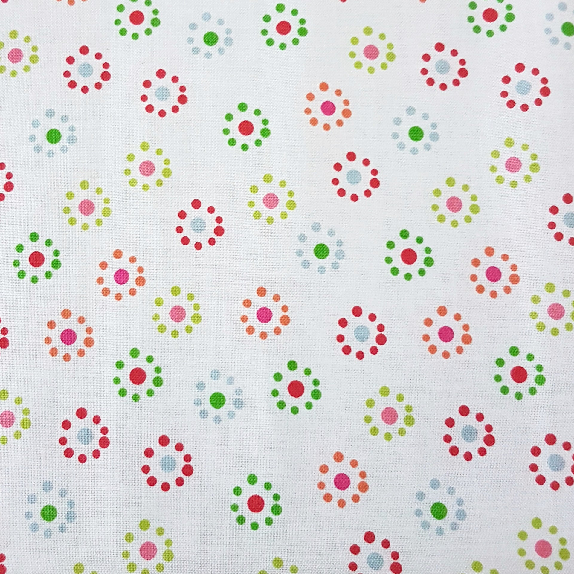 Multi Spot Flowers - 100% Cotton Fabric Fat Quarter - Vera Fabrics
