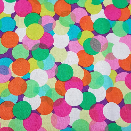 Multi Bubble Burst - 100% Cotton Fabric Fat Quarter - Vera Fabrics