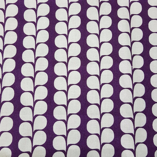 Purple Lavender Stalks - 100% Cotton Fabric Fat Quarter - Vera Fabrics