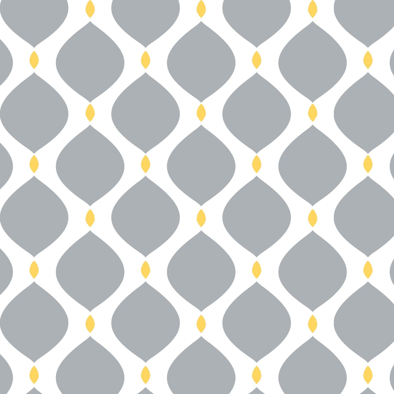 Grey Matter with Yellow Lattice Drops Cotton Fabric - Vera Fabrics