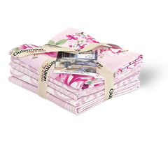 Baby Pink Long Island Cotton Fabric Fat Quarter Bundle - Vera Fabrics