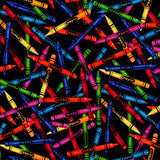 Colourful Crayons Novelty Cotton Fabric