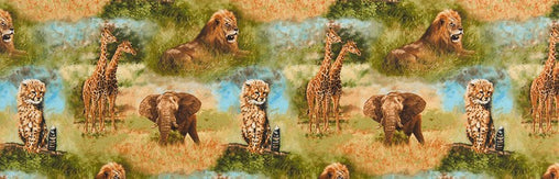 Wild Animals Nature Studies Cotton Fabric - Vera Fabrics