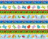 Animals in a Row Backyard Buzz Cotton Fabric