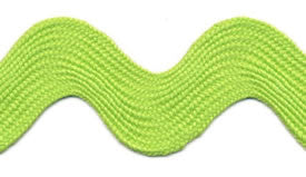 Super Jumbo 4cm Large Ric Rac Craft Ribbon - Apple Green - Per Metre - Vera Fabrics