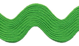 Super Jumbo 4cm Large Ric Rac Craft Ribbon - Lime Green - Per Metre - Vera Fabrics
