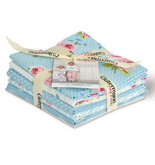 Blue Summer Loft Cotton Fabric Fat Quarter Bundle - Vera Fabrics