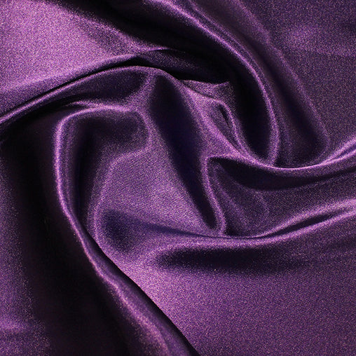 "97% Polyester 3% SpandexPlain Stretch Satin 60"" - 10 Colours"