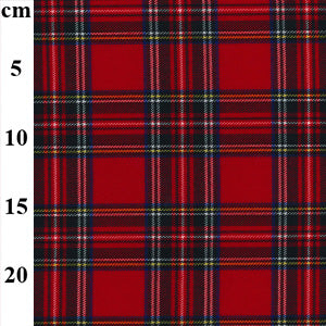 "67% Polyester 29% Viscose 4% Spandex Stretch Tartans 57"" - 2 Colours"
