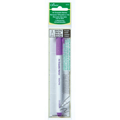 Fabric Marker Pen - Air Erasable - Extra Fine: Purple - Vera Fabrics
