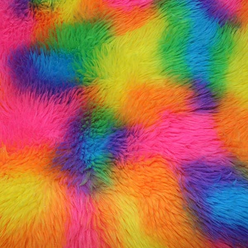 100% Polyester Rainbow Fur 60""
