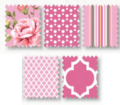 Pink Portofino Cotton Fabric Fat Quarter Bundle - Vera Fabrics