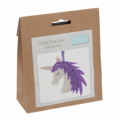 Children's Felt Decoration Kit: Unicorn - Vera Fabrics