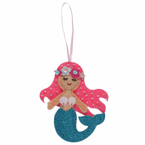 Children's Felt Decoration Kit: Mermaid - Vera Fabrics