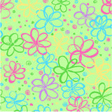 Green Flowers P&B's Bloom Cotton Fabric