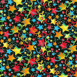 Bright Party Stars Celebrations Cotton Fabric