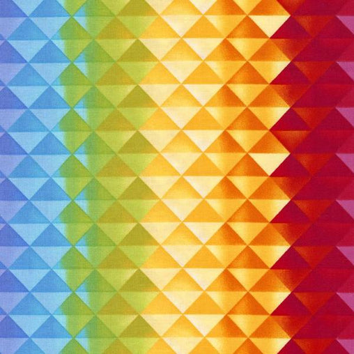 Prism Gradient Colourful Geometrical Print Cotton Fabric - Vera Fabrics