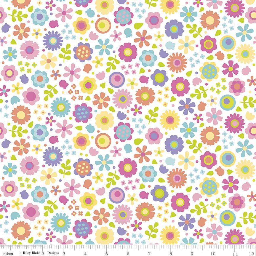 Colourful Flowers Under The Sea Cotton Fabric - Vera Fabrics