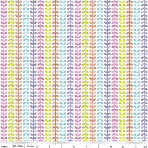 Colourful Stalks Under The Sea Cotton Fabric - Vera Fabrics