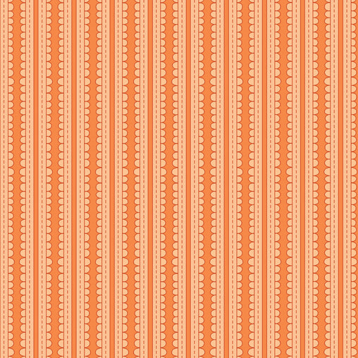 Orange Ribbons Basically Hugs Cotton Fabric - Vera Fabrics