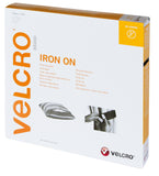 Velcro Hook & Loop Tape Iron-On 20mm - White - 50cm