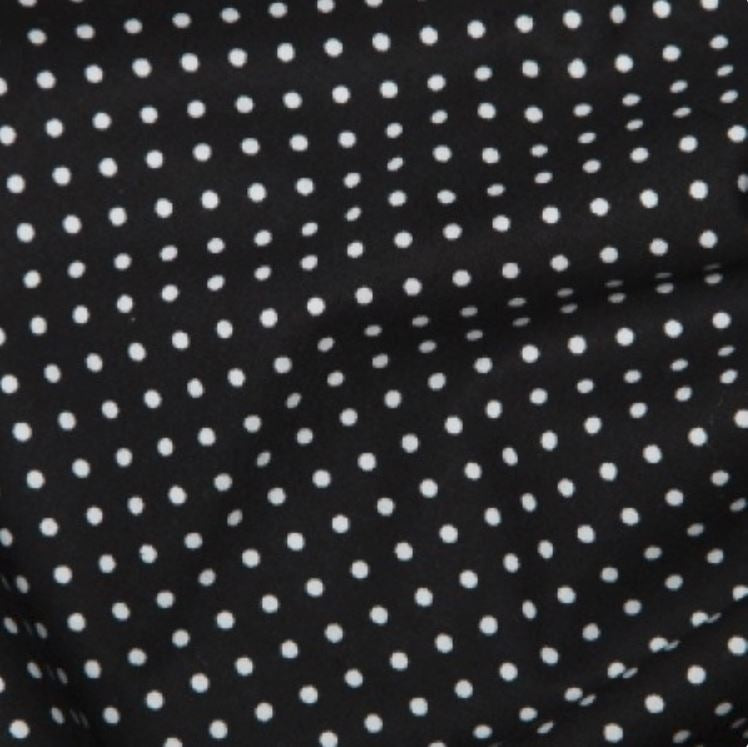 Black 3mm Spotty Polka Dot 100% Cotton Poplin Fabric - Vera Fabrics