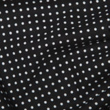 Black 3mm Spotty Polka Dot 100% Cotton Poplin Fabric