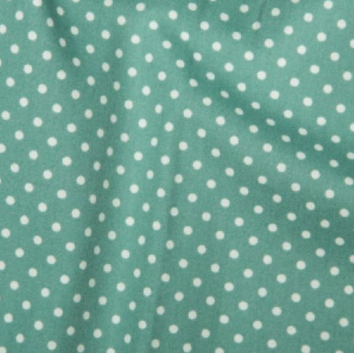 Ice Green 3mm Spotty Polka Dot 100% Cotton Poplin Fabric - Vera Fabrics