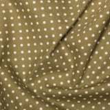 Moss Green 3mm Spotty Polka Dot 100% Cotton Poplin Fabric