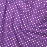 Purple 3mm Spotty Polka Dot 100% Cotton Poplin Fabric