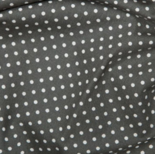 Excellent Quality Grey 3mm Spotty Polka Dot 100% Cotton Poplin Fabric 130gsm Sewing Quilting Craft Home Decor