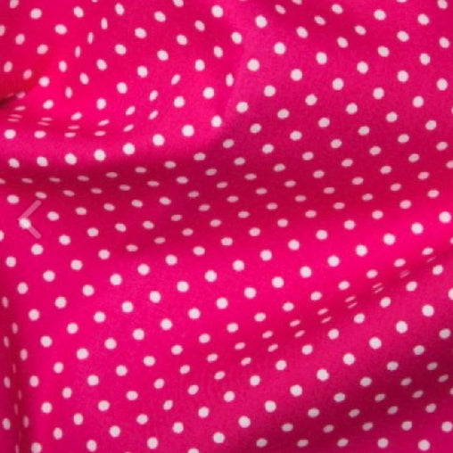 Excellent Quality Cerise Pink 3mm Spotty Polka Dot 100% Cotton Poplin Fabric 130gsm Sewing Quilting Craft Home Decor