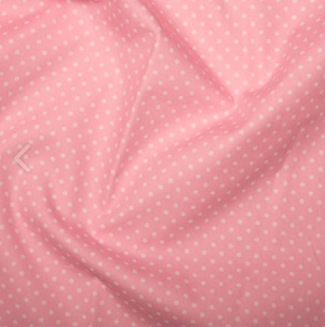 Excellent Quality Pink 3mm Spotty Polka Dot 100% Cotton Poplin Fabric 130gsm Sewing Quilting Craft Home Decor