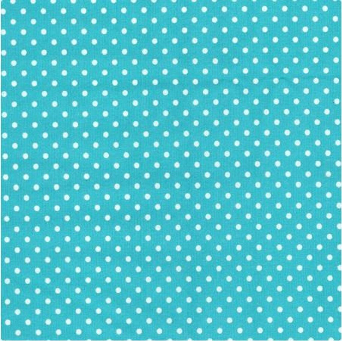 Excellent Quality Pastel Turquoise Aqua 3mm Spotty Polka Dot 100% Cotton Poplin Fabric 130gsm Sewing Quilting Craft Home Decor