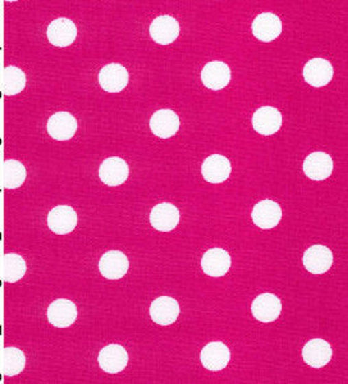 Excellent Quality Cerise 22mm Large Spotty Polka Dot 100% Cotton Poplin Fabric 130gsm Sewing Quilting Craft Home Decor