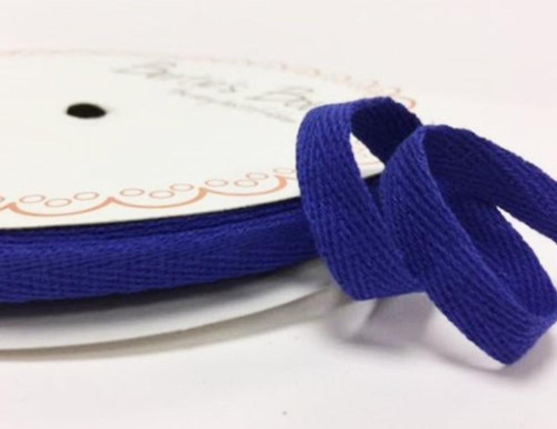 2 metres Royal Blue 10mm Cotton Herringbone Tape Webbing Ribbon Craft Sewing