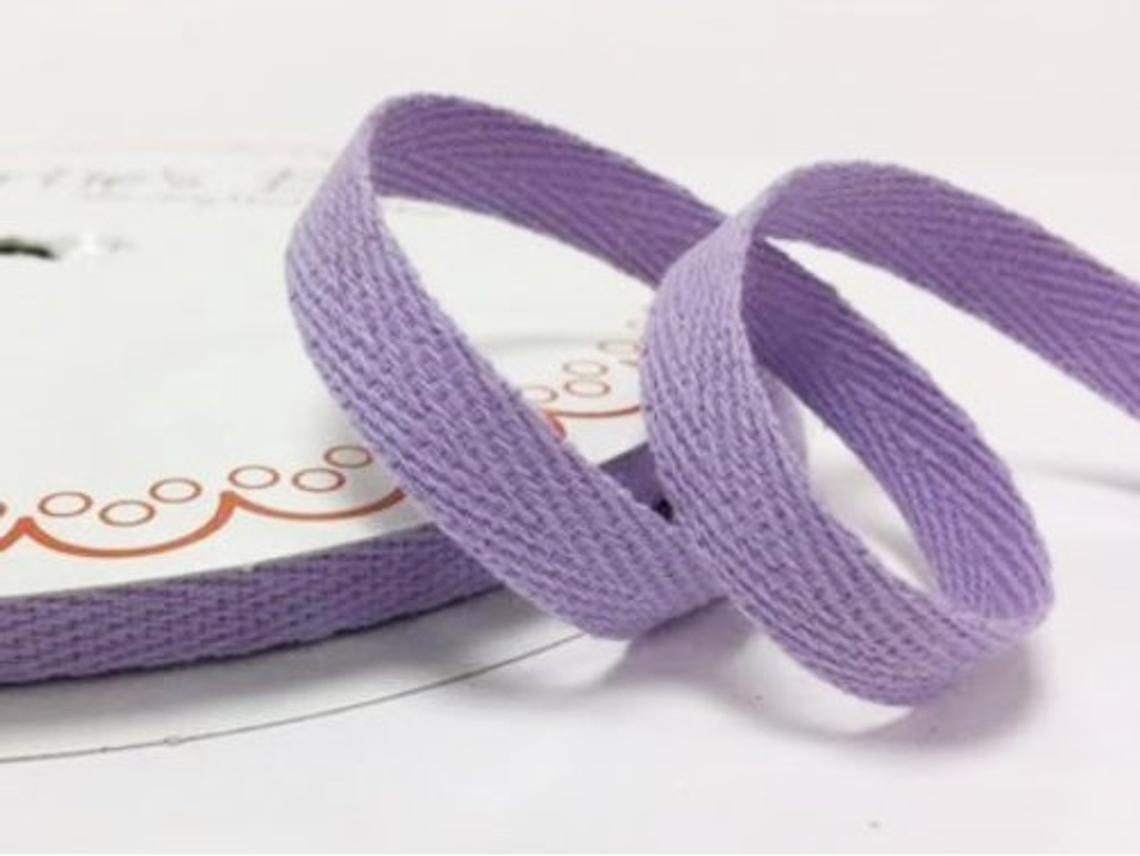 2 metres Lilac Purple 10mm Cotton Herringbone Tape Webbing Ribbon Craft Sewing