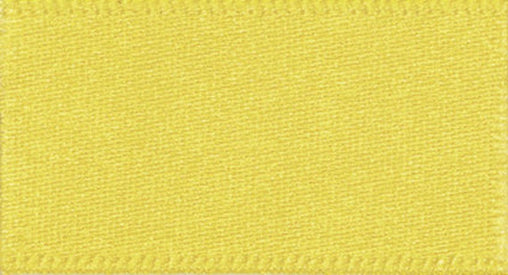 5 Metres Yellow - Double Faced Satin - 10mm - Clothes, Funishing, Craft