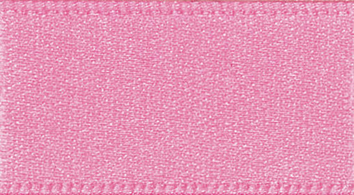 2 Metres Pink- Double Faced Satin - 15mm Wide - Clothes, Funishing, Craft