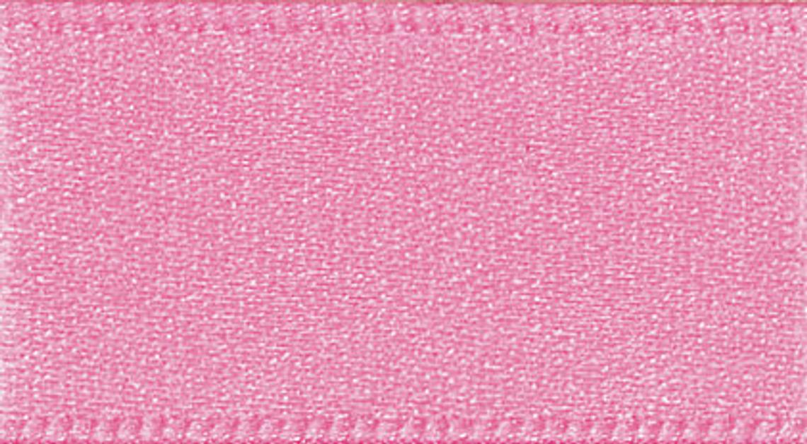 2 Metres Pink- Double Faced Satin - 35mm Wide - Clothes, Funishing, Craft