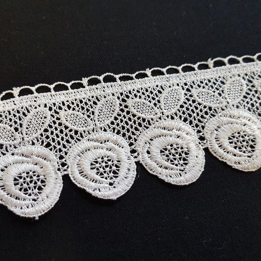 "2""/50mm Cream Roses Flowers Floral Excellent Quality Delicate Intricate Guipure Lace Trimming Ribbon - by the metre"