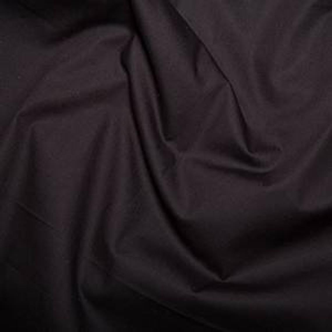 Excellent Quality Plain Black 100% Cotton Poplin Fabric 121gsm Sewing Quilting Craft Home Decor