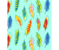 Boho Boutique Feathers Bright Aqua Falling Gypsy Fat Quarter Cotton Fabric by Michael Miller (UK)