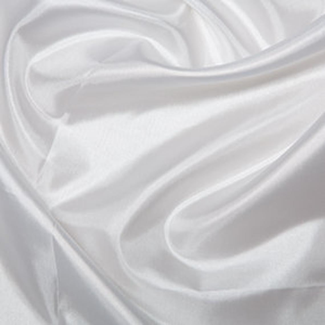 "White Silk Polyester Habotai Lining Clothes Dresses 58"" Wide Fabric Smooth Lustrous Lightweight Material 5 Metres"