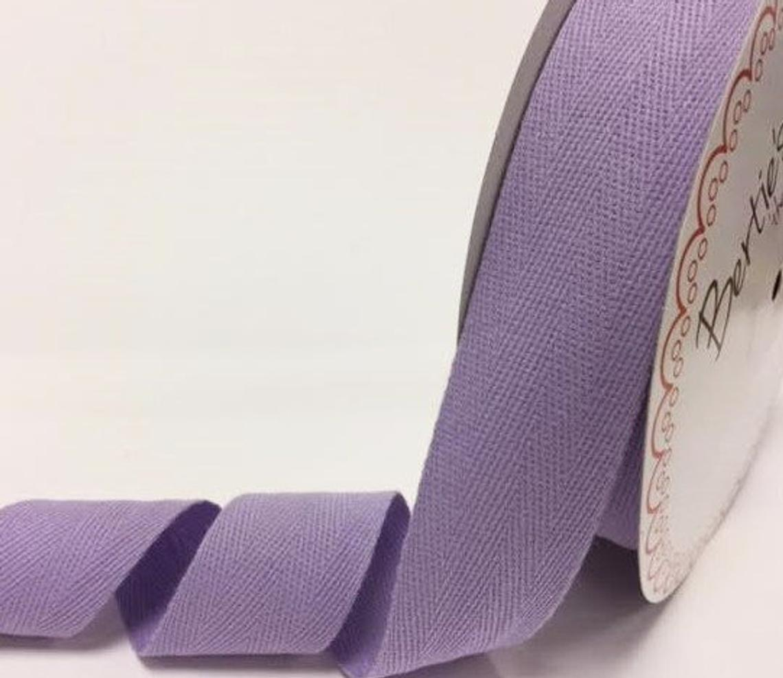 2 metres Lilac Purple 40mm Cotton Herringbone Tape Webbing Ribbon Craft Sewing